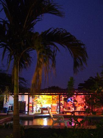 The Dreamer Hostel: lightening at night over the hostel