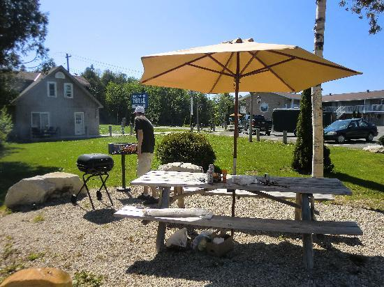 Bruce Anchor Motel and Cottage Rentals: Great BBQ-Place for free use