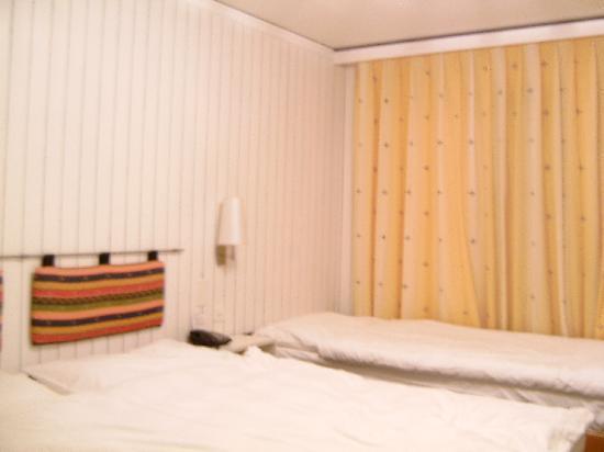 Hotel Alpina Airolo: Das Bett
