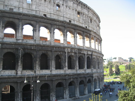 Rome, Italie : One of our first views of the exterior