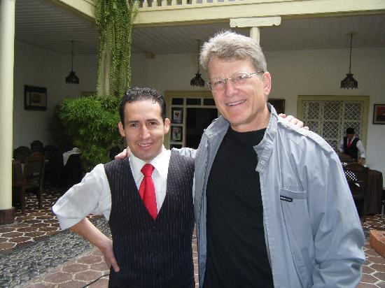 Hotel Inca Real: Gary with waiter, Freddy
