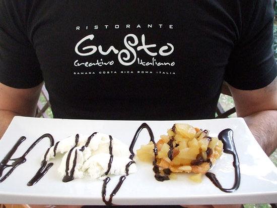 Gusto Beach: Gusto menu