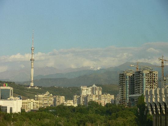 InterContinental Almaty Hotel: Sicht aus dem Hotelzimmer