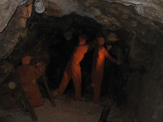 Zacatecas, المكسيك: Interior de la mina, convertida en museo