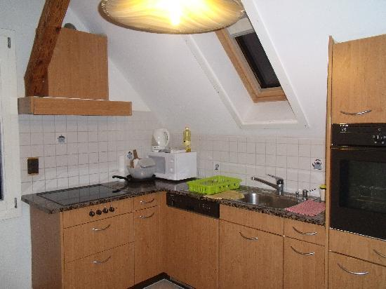 Residence Jungfrau : The Kitchen (Fully Equipped with Utensils/Pans/Pots/Fridge/Microwave/Toaster...etc)