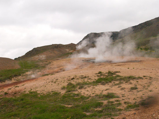 Hveragerdi, Island: The new thermal area, formed in 2008