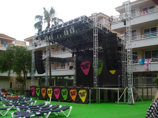 BH Mallorca : the stage
