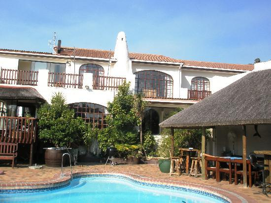 "Gordons Bay Guesthouse: Main House pool and ""Braai area"""