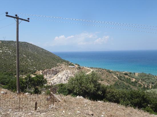 Tsilivi, Grécia: Vy från serpentinväg...