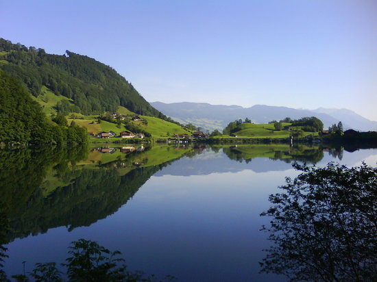 Lake Lungern, near the town