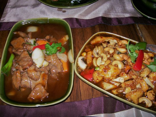 Simply Thai Restaurant: beef and chicken dishes