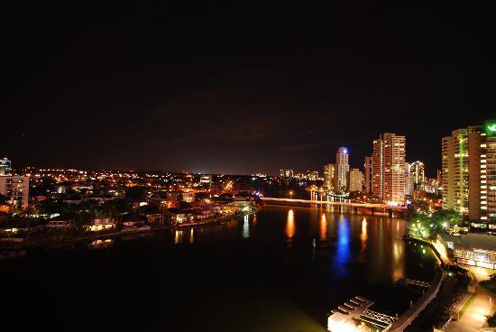 Moorings on Cavill Avenue: Night view from the balcony
