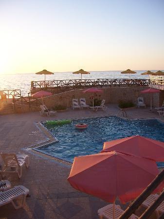 Alkionis Beach Hotel: Pool mit Meerblick
