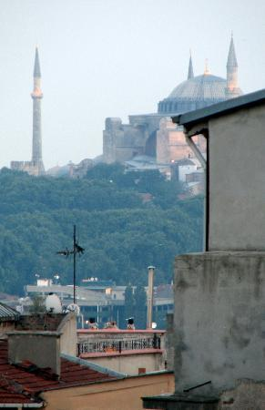 Galata Life Istanbul : View of the Hagia Sophia from my room