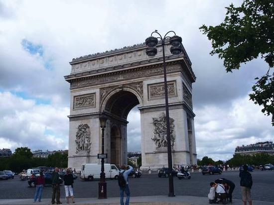 Parijs, Frankrijk: Arc de Triumph