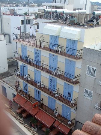 Hostal Ferrer. Pic taken from Casa Maria rooftop pool area.