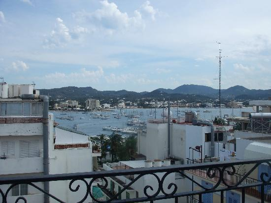 Hostal Ferrer: View of San Antonio from Casa Maria rooftop pool area.