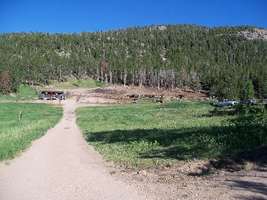 Lane Guest Ranch: Looking down toward the corral