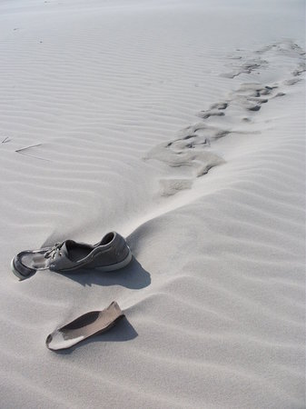 Jylland, Danmark: But don't foget to take your shoes with you or they'll get buried!