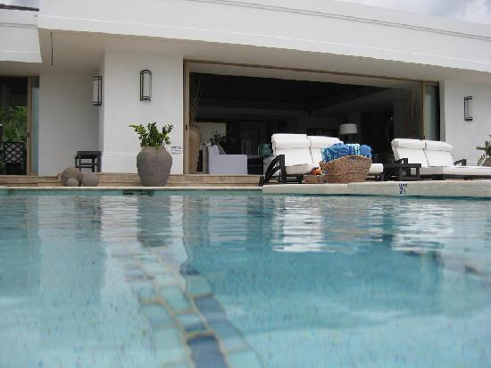 Tryall Club: Pool side view looking into the Living Room