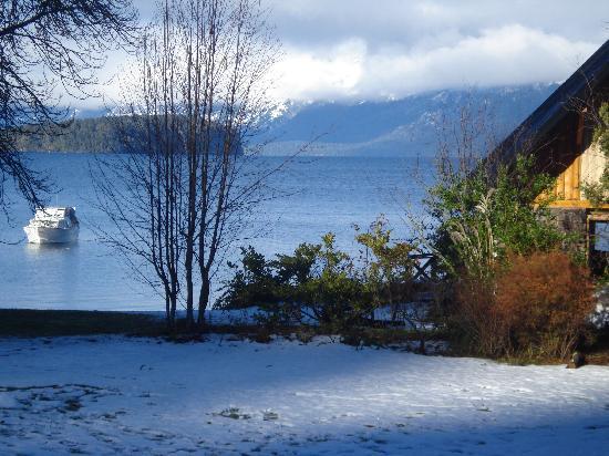 Cabanas Puerto Arauco: amaneció con nieve