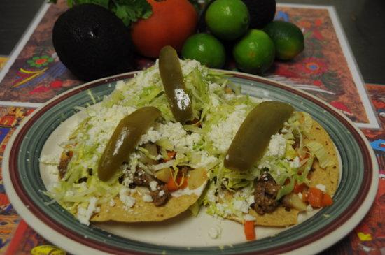 Guajillo's The Shortcut to Mexico: Tostadas de Picadillo