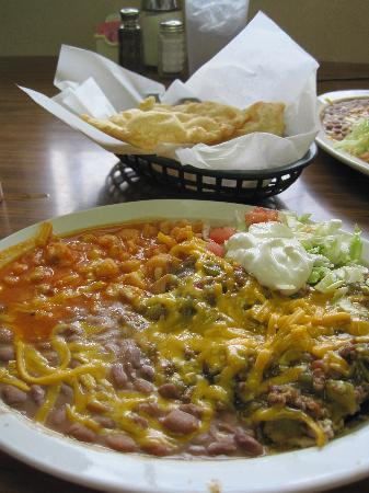 Viola's Restaurant: Blue Chicken Enchiladas Plate