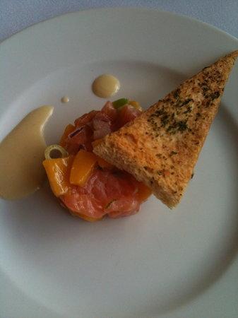 Rosemary Lane: Scottish Salmon Tartare, Lime Zest, Sea Salt and Chili Flakes
