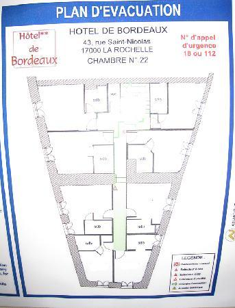 Hotel Le Bord'O: Roomplan, second floor
