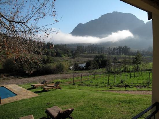 Alluvia Wine Estate: view from our terrace