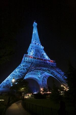 Paris, Frankrike: Eiffel at night