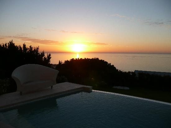 Atlantic Suites Camps Bay: sunset from terrace