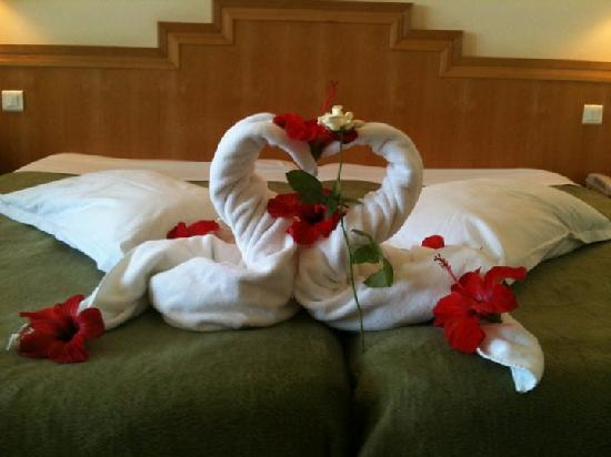 El Mouradi El Menzah: one of the arrangements with our towels