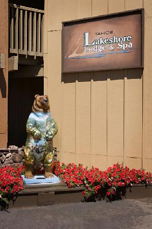 "Tahoe Lakeshore Lodge and Spa: Our mascot ""Biker Bear"""