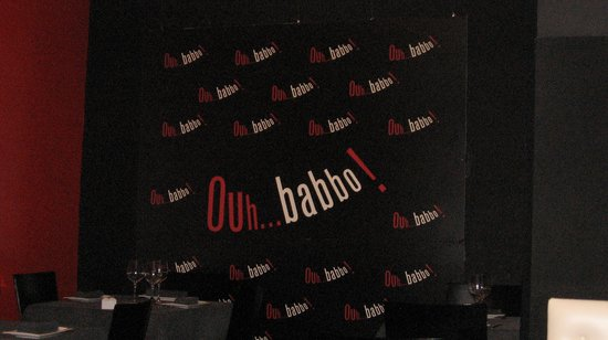 Ouh...Babbo! : Inside sign
