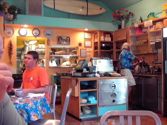 Miguel's Baja Grill: View from kitchen dining area