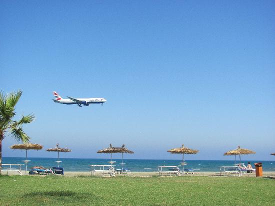 Larnaka City, Cyprus: Larnaca International Airport next to the beach