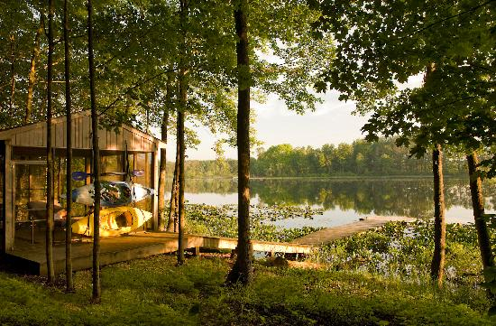 Castle in the Country Bed & Breakfast Inn: Kayaks complimentary at our lakeside screen house