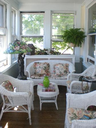 John Randall House : The improved front porch...