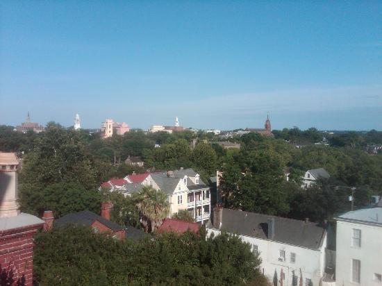 Wentworth Mansion: one view from the cupola on top