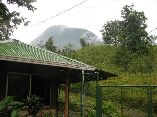 Fourtrax Adventure: View of Cerro Chato from outside the park entrance