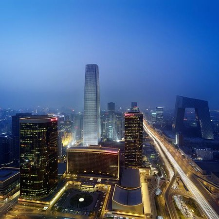 Shangri-La China World Summit Wing, Beijing: Panoramic View nighttime