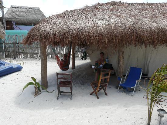 Don Diego de la Playa: les tentes