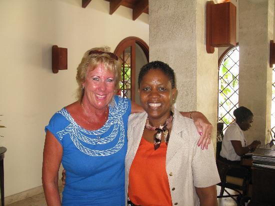 Mango Bay All Inclusive: Me with Marcia Charles