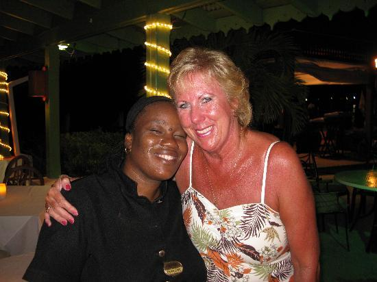 Mango Bay All Inclusive: Me with Curlene our waitress