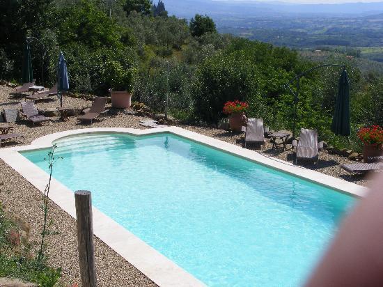 Ventena Vecchia - Antico Frantoio: Blick vom Haus über den Pool