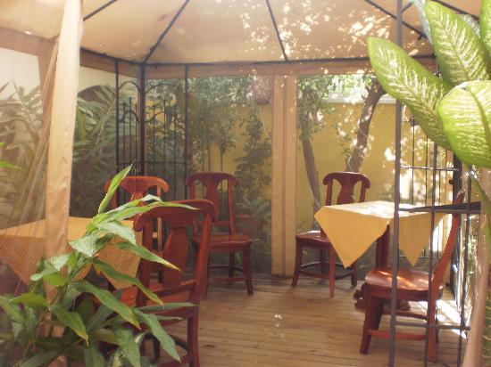 Hotel Aloha: looking into the courtyard