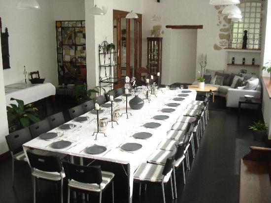 Domaine en Prael : Conference Room set  for Dinner