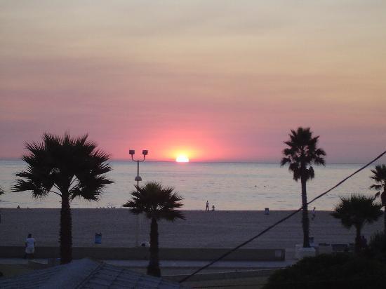 Grandview Inn: Sonnenuntergang aus unserem Hotelzimmmer