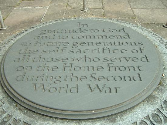 Coventry, UK: memorial to those who lived throught the war